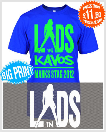 lads in stag or lads holidays t-shirts