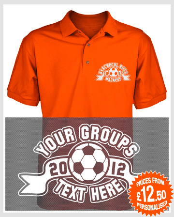 footie badge stag holiday polo shirts
