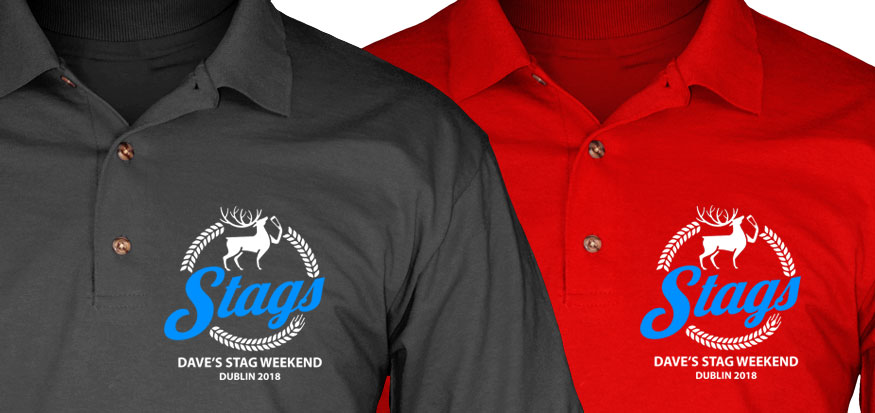 5655416ef Stag polo shirts and Lads holiday polo shirts for Group Events
