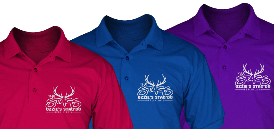 c84beaff Stag polo shirts and Lads holiday polo shirts for Group Events